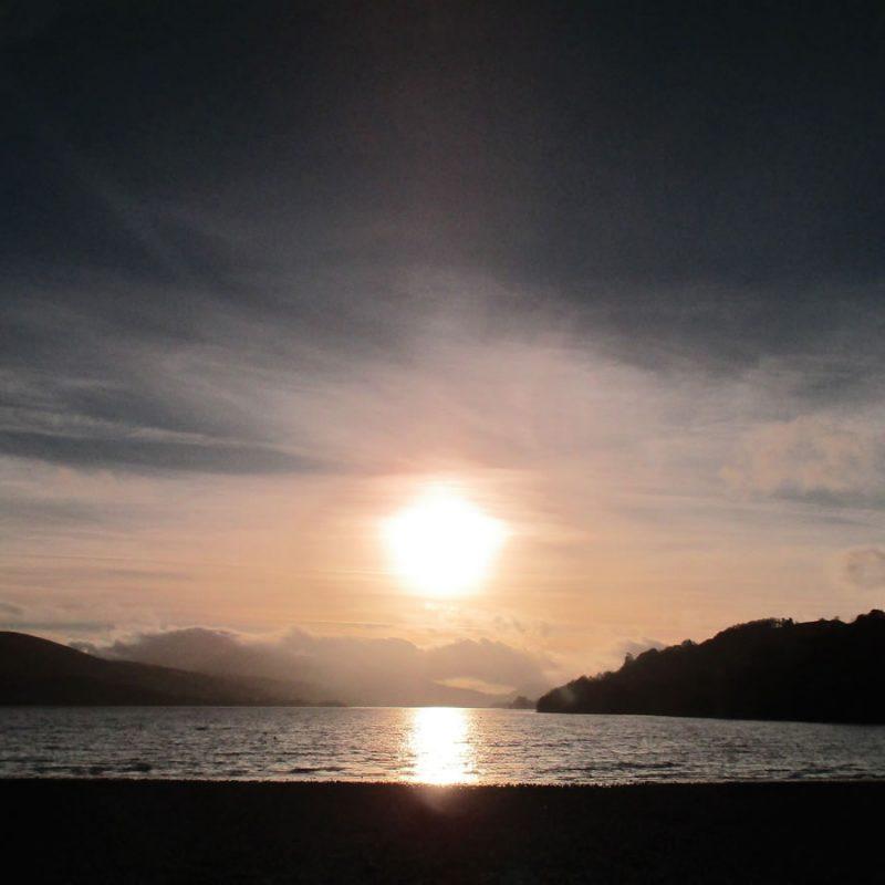 Sunset over Bala Lake
